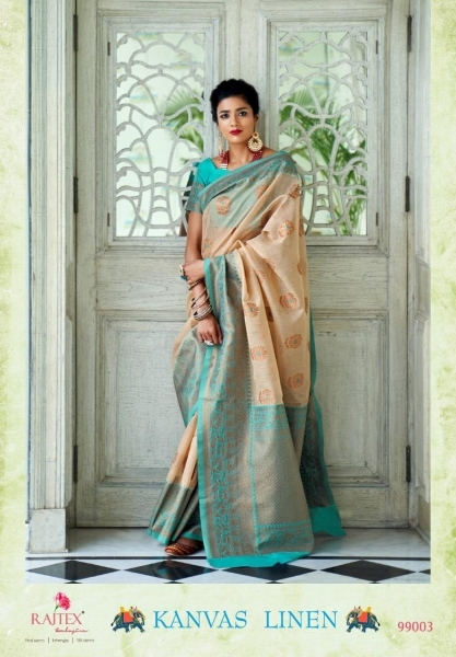 RAJTEX PRESENTS CANVAS LINEN FABRIC DESIGNER SAREE WHOLESALE DEALER BEST RATE BY GOSIYA EXPORTS SURAT (6)