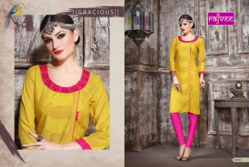 RAJVEE POSHAK CATALOGUE REYON KURTI CASUAL WEAR (10)