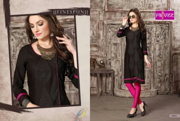 RAJVEE POSHAK CATALOGUE REYON KURTI CASUAL WEAR (2)