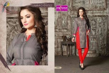 RAJVEE POSHAK CATALOGUE REYON KURTI CASUAL WEAR (4)