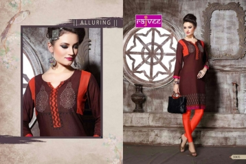 RAJVEE POSHAK CATALOGUE REYON KURTI CASUAL WEAR (5)