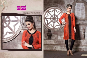 RAJVEE POSHAK CATALOGUE REYON KURTI CASUAL WEAR (6)