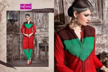 RAJVEE POSHAK CATALOGUE REYON KURTI CASUAL WEAR (7)