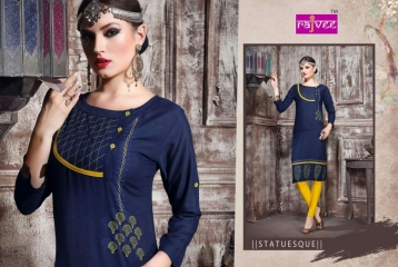 RAJVEE POSHAK CATALOGUE REYON KURTI CASUAL WEAR (8)
