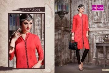 RAJVEE POSHAK CATALOGUE REYON KURTI CASUAL WEAR (9)
