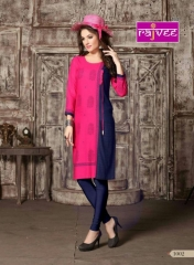 RAJVEE POSHAK CATALOGUE REYON KURTI CASUAL WEAR
