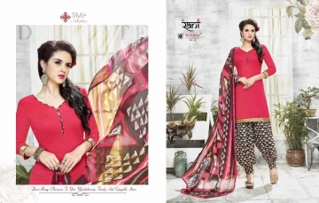 RANI SUNDAY PATIYALA VOL 18 HEAVY GLACE COTTON PARTY WEAR DRESS MATERIALS CATALOG WHOLESALE RATE SURAT BY G (11)
