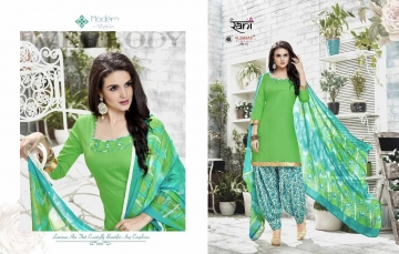 RANI SUNDAY PATIYALA VOL 18 HEAVY GLACE COTTON PARTY WEAR DRESS MATERIALS CATALOG WHOLESALE RATE SURAT BY G (6)