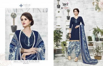 RANI SUNDAY PATIYALA VOL 18 HEAVY GLACE COTTON PARTY WEAR DRESS MATERIALS CATALOG WHOLESALE RATE SURAT BY G (9)