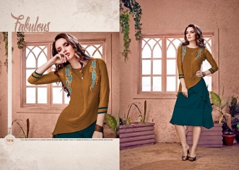 RAVI CREATION DOLLAR CATALOG GEORGETTE EMBROIDERY KURTI COLLECTION WHOLESALE SUPPLIER BEST RATE BY GOSIYA EXPORTS SURAT (3)