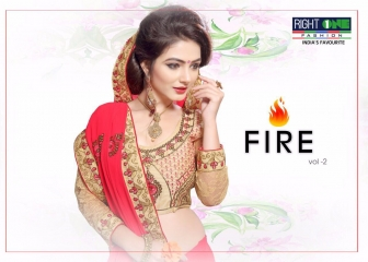 RIGHT ONE FIRE FANCY INDIAN SAREE WHOLESALER SURAT BEST RATE BY GOSIYA EXPORTS SURAT (1)
