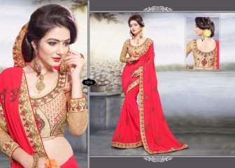 RIGHT ONE FIRE FANCY INDIAN SAREE WHOLESALER SURAT BEST RATE BY GOSIYA EXPORTS SURAT (10)