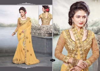 RIGHT ONE FIRE FANCY INDIAN SAREE WHOLESALER SURAT BEST RATE BY GOSIYA EXPORTS SURAT (12)