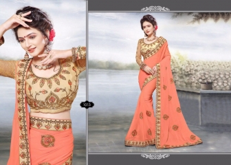 RIGHT ONE FIRE FANCY INDIAN SAREE WHOLESALER SURAT BEST RATE BY GOSIYA EXPORTS SURAT (9)