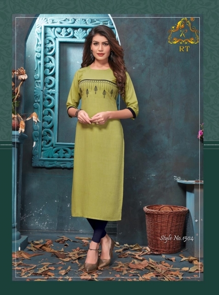 RIJIYA TRENDS ANTRA HEAVY RAYON FABRIC DESIGNER KURTI WHOLESALE DEALER BEST RATE BY GOSIYA EXPORTS SURAT (3)