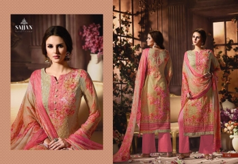 ROSE VOL 11 BY SAJJAN GEORGETTE PRINT WITH DESIGNER SAREES COLLECTION AT WHOLESALE E (1)