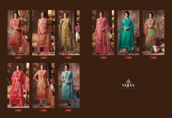 ROSE VOL 11 BY SAJJAN GEORGETTE PRINT WITH DESIGNER SAREES COLLECTION AT WHOLESALE E (10)