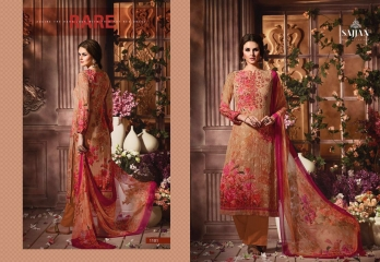 ROSE VOL 11 BY SAJJAN GEORGETTE PRINT WITH DESIGNER SAREES COLLECTION AT WHOLESALE E (2)
