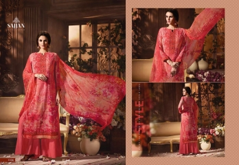 ROSE VOL 11 BY SAJJAN GEORGETTE PRINT WITH DESIGNER SAREES COLLECTION AT WHOLESALE E (4)