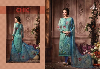 ROSE VOL 11 BY SAJJAN GEORGETTE PRINT WITH DESIGNER SAREES COLLECTION AT WHOLESALE E (6)