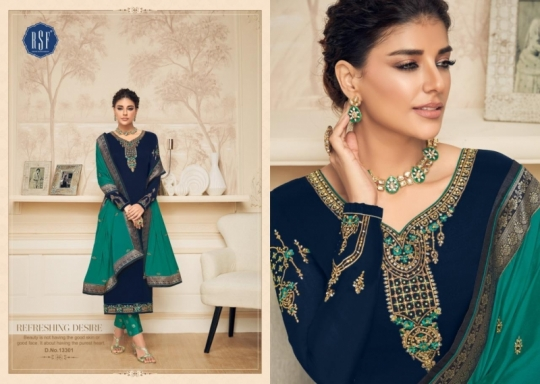 RSF FASHION PRESENTS SHAHINA VOL 2 GEORGETTE FABRIC HEAVY WORK SALWAR SUIT WHOLESALE DEALER BEST RATE BY GOSIYA EXPORTS SURAT (14)