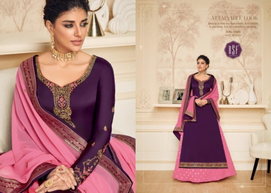 RSF FASHION PRESENTS SHAHINA VOL 2 GEORGETTE FABRIC HEAVY WORK SALWAR SUIT WHOLESALE DEALER BEST RATE BY GOSIYA EXPORTS SURAT (2)