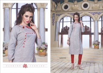 RUCHI KURTIS BY PURPLE DESIGNER COTTON SLUB KURTIS ARE AVAILABLE AT WHOLESALE RATE BY GOSIYA EXPORTS (2)
