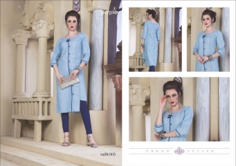 RUCHI KURTIS BY PURPLE DESIGNER COTTON SLUB KURTIS ARE AVAILABLE AT WHOLESALE RATE BY GOSIYA EXPORTS (5)