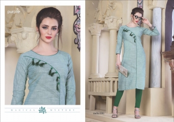 RUCHI KURTIS BY PURPLE DESIGNER COTTON SLUB KURTIS ARE AVAILABLE AT WHOLESALE RATE BY GOSIYA EXPORTS (6)