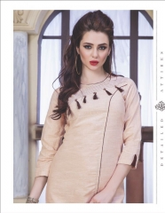 RUCHI KURTIS BY PURPLE DESIGNER COTTON SLUB KURTIS ARE AVAILABLE AT WHOLESALE RATE BY GOSIYA EXPORTS