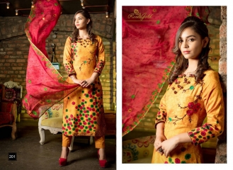 RVEE GOLD MAHREEN VOL 3 SUMMER COLLECTION SUITS CATALOG WHOLESALE BEST RATE (9)