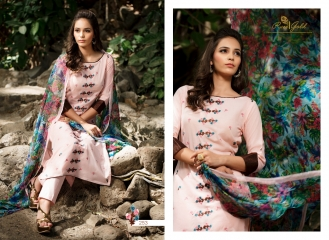 Rvee gold the roses cotton salwar kameez collection BY GOSIYAB EXPORTS SURAT (4)