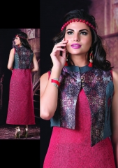 S4U BY SHIVALI CREATION PINK 2 CATALOG SILK KURTIS JACKETS COLLECTION WHOLESALE (10)