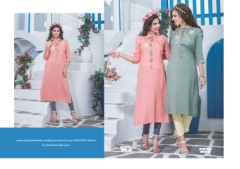 S4U BY SHIVALI JUDWA CATALOGUE REYON KURTI WHOLESALE BEST RATE COLLECTION BY GOSIYA EXPORTS SURAT (1)
