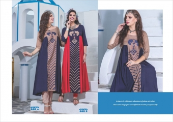 S4U BY SHIVALI JUDWA CATALOGUE REYON KURTI WHOLESALE BEST RATE COLLECTION BY GOSIYA EXPORTS SURAT (2)