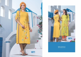 S4U BY SHIVALI JUDWA CATALOGUE REYON KURTI WHOLESALE BEST RATE COLLECTION BY GOSIYA EXPORTS SURAT (6)