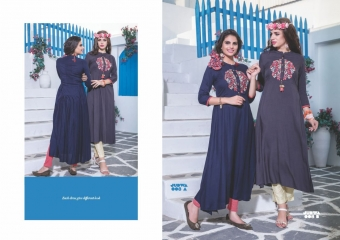 S4U BY SHIVALI JUDWA CATALOGUE REYON KURTI WHOLESALE COLLECTION AT GOSIYA EXPORTS SURAT (8)