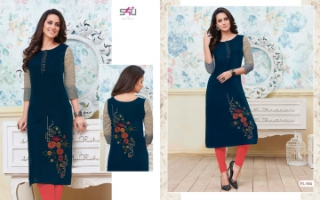 S4U SHIVALI BY FLORA VOL 5 DESIGNER WEAR KURTI COLLECTION WHOLESALE BEST RATE BY GOSIYA EXPORTS SURAT (4)