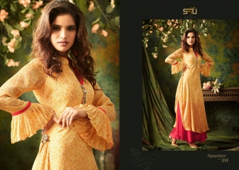 S4U SHIVALI BY SIGNATURE VOL 2 HEAVY GEORGETTE DESIGNER KURTI COLLECTION WHOLESALE BEST RATE BY GOSIYA EXPORTS SURAT (4)