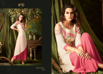 S4U SHIVALI BY SIGNATURE VOL 2 HEAVY GEORGETTE DESIGNER KURTI COLLECTION WHOLESALE BEST RATE BY GOSIYA EXPORTS SURAT (5)