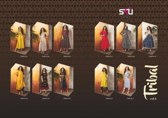 S4U SHIVALI COLLECTION BY TRIBAL VOL 4 CATALOG RAYON PRINTS KURTI COLLECTION WHOLESALE BEST RATE BY GOSIYA EXPORTS SUR (523)