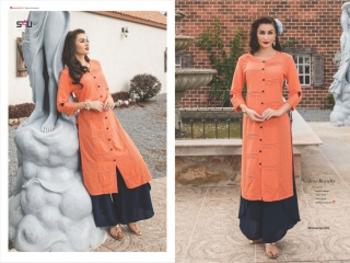 S4U SHIVALI COLLECTION WOOMANIYA VOL 6 WINTER SPECIAL KURTI WITH PLAZZO SET (1)