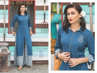 S4U SHIVALI COLLECTION WOOMANIYA VOL 6 WINTER SPECIAL KURTI WITH PLAZZO SET (10)
