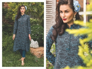 S4U SHIVALI COLLECTION WOOMANIYA VOL 6 WINTER SPECIAL KURTI WITH PLAZZO SET (2)