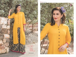 S4U SHIVALI COLLECTION WOOMANIYA VOL 6 WINTER SPECIAL KURTI WITH PLAZZO SET (3)