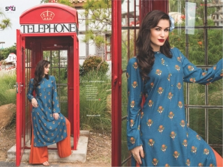 S4U SHIVALI COLLECTION WOOMANIYA VOL 6 WINTER SPECIAL KURTI WITH PLAZZO SET (5)