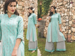 S4U SHIVALI COLLECTION WOOMANIYA VOL 6 WINTER SPECIAL KURTI WITH PLAZZO SET (6)