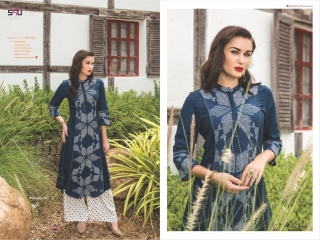 S4U SHIVALI COLLECTION WOOMANIYA VOL 6 WINTER SPECIAL KURTI WITH PLAZZO SET (7)
