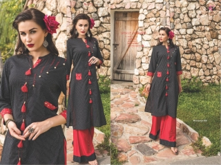 S4U SHIVALI COLLECTION WOOMANIYA VOL 6 WINTER SPECIAL KURTI WITH PLAZZO SET (8)