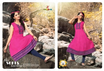 SAAVYA Cotton Heavy Lon KURTIS FANCY KESROM WHOLESALE BEST RATE BY GOSIYA EXPORTS (1)